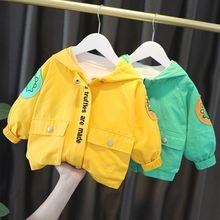 Осенняя детская куртка верхняя одежда милые толстовки в стиле
