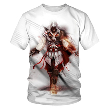All kinds of game fashion summer 3D printing men's short-sleeved T-shirt hip-hop game pattern street clothes loose casual round