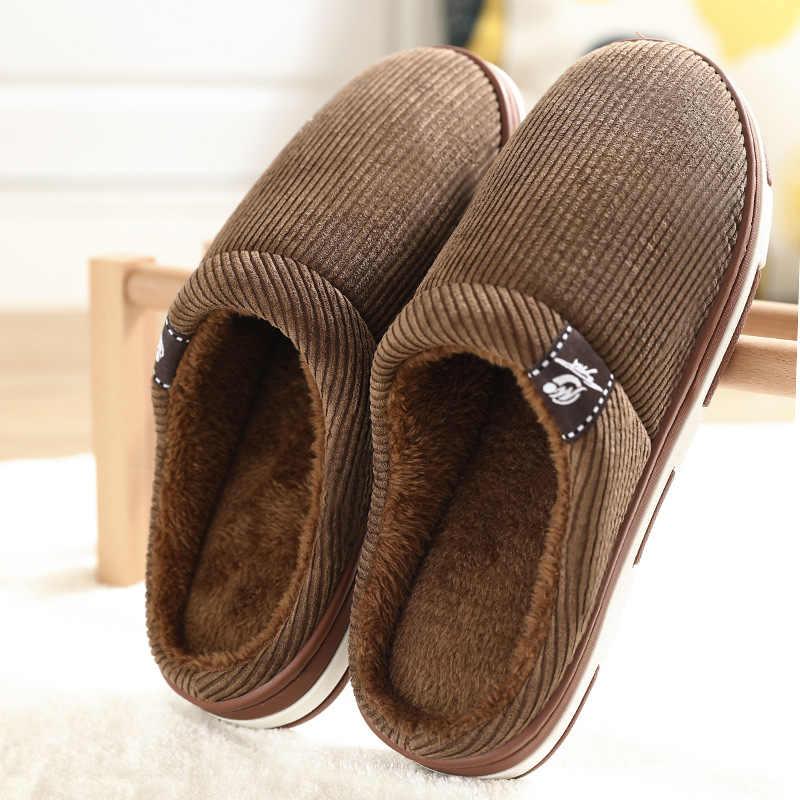 Men's Winter Slippers Warm Velvet Fur