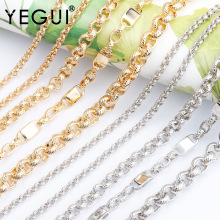 YEGUI C118,jewelry accessories,diy chain,18k gold plated,0.3 microns,rhodium plated,diy bracelet necklace,hand made,1m/lot