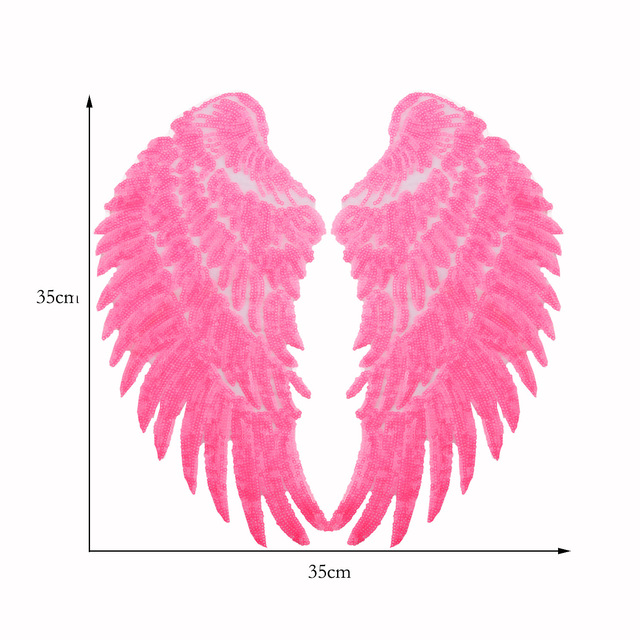 1pair Angel Wings Big Patches for Clothing Large Patch