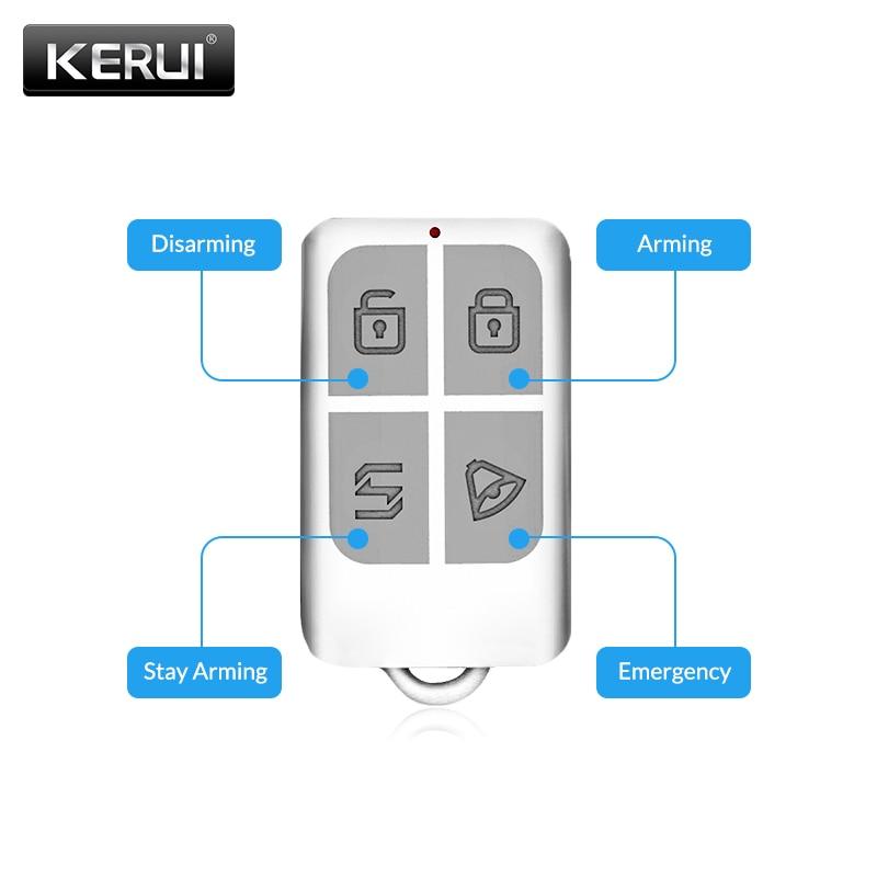 KERUI Wireless Remote Control Key Sensor Keychain For Touch Keypad Panel GSM PSTN WIFI 2G 3G Home Security Burglar Alarm System