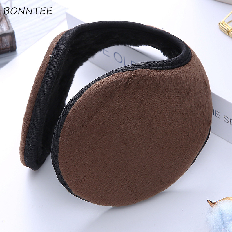 Earmuffs Women Thicken Warm High Quality Various Solid Color Autumn Winter Accessories Girls Fashionable Daily All-match Couple