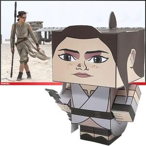 Нет-клей Звездные войны Rey складной резки милый мини 3D бумажная модель бумаги ремесло Фильм рисунок DIY Cubee дети взрослые ремесло игрушки CS-047