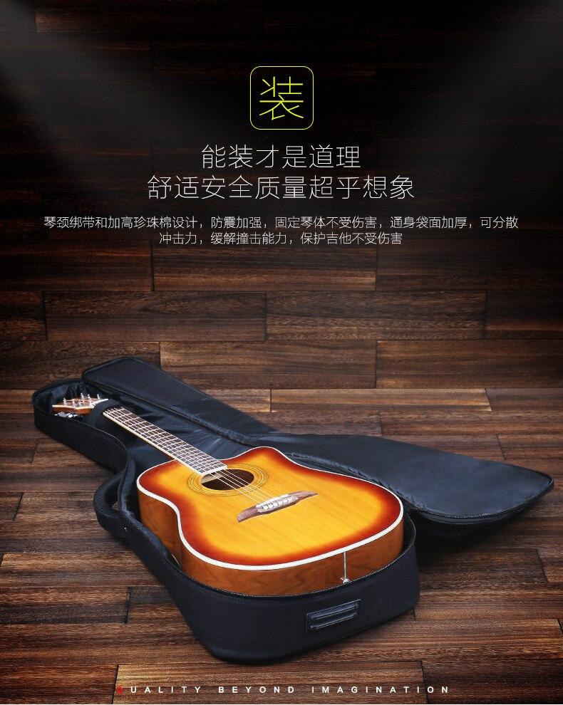 Ombros de tocar guitarra balada guitarra saco