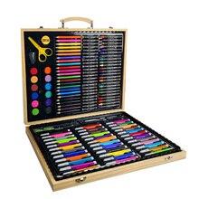 Детские карандаши, канцелярские принадлежности, офисные карандаши, чехол для хранения, кисть для рисования, студенческий Художественный набор, акварельная ручка для рисования#5