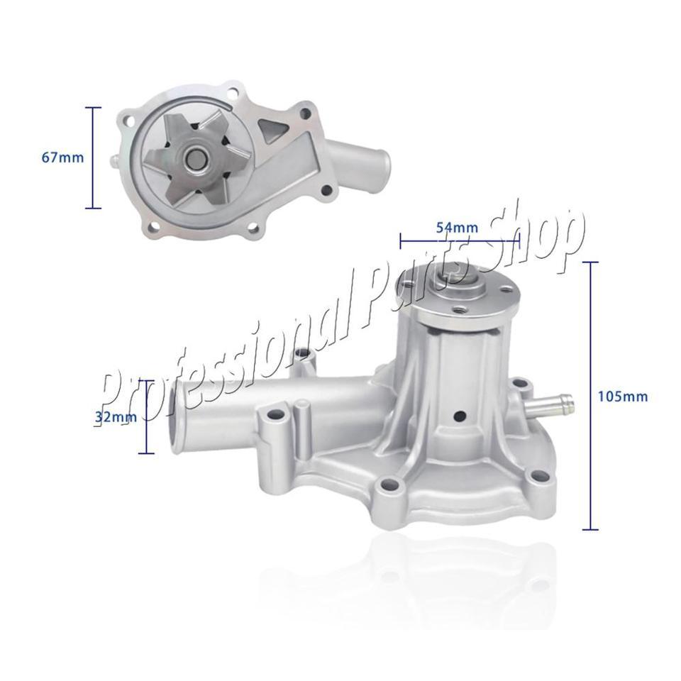 Solarhome Water Pump 16251-73034 16251-73032 16241-73032 for Kubota V1505 Engine B21 B2410 B2710 B7500 BX2200D F2400 F2560 F2880 F2680 F2260 F2560 F3060 F3680 Front Mover 70mm Impeller