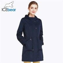 ICEbear 2019 O-Neck Collar Fall New Arrival Trench Coat Soli