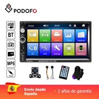 Podofo 7'' Car radio 2 din Digital Display Touch Screen Bluetooth Autoradio MP5 Stereo Multimedia Player MP5