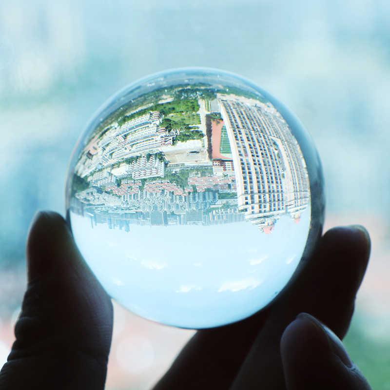 2/3/4/5CM צילום קריסטל עגול זרע חרוזים פנג שואי ברור צבע קסם טבעי זכוכית כדורי עבור בית חתונת קישוט