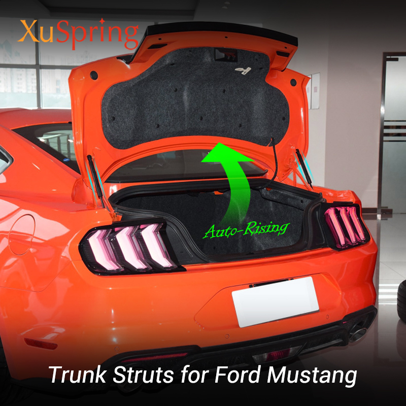 For Ford <font><b>Mustang</b></font> <font><b>2015</b></font> 2016 2017 2018 <font><b>2019</b></font> Replace Rear Door Trunk Hydraulic Rod Strut Bars Spring Shock Lifting Bracket Styling image