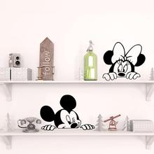 Disney Mickey Mouse Minnie Wall Stickers for Kids Room Baby Nursery room accessories home decal Car Decals