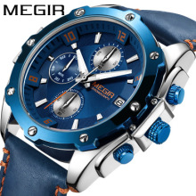 Mens Sports Watches Men Top Brand Luxury Leather Quartz Automatic Date Clock Male Army Military Waterproof Wrist Watch jaragar blue sky series elegant design genuine leather strap male wrist watch mens watches top brand luxury clock men automatic