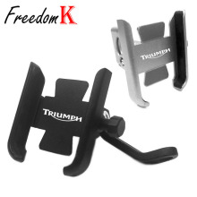 For Triumph 1050 T955 Street Triple 675 Tiger 800 Motorcycle CNC Handlebar Rearview Mirror Mobile Phone Holder GPS stand bracket