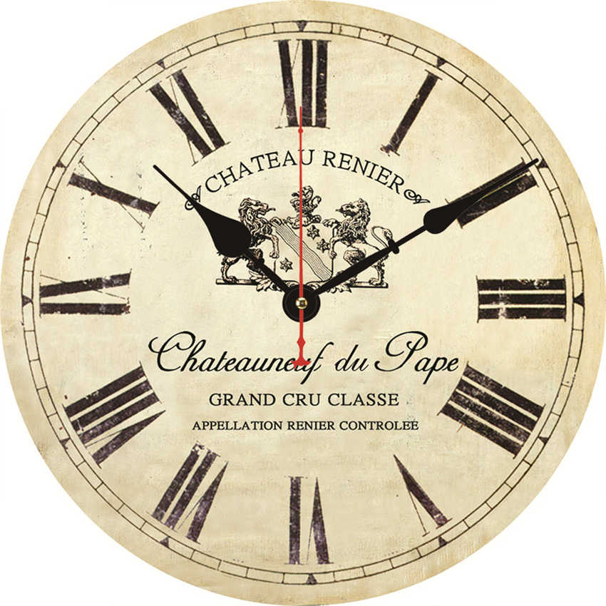 Shabby Retro Home Kitchen Room Decor Wine Bar Store Clock French Style Wall Watch Clock Non Ticking Silent Quiet Clocks Kitchen Wall Clock Kitchen Wall Clocks From Herbertw 25 72 Dhgate Com