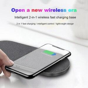 Image 5 - Беспроводная зарядная станция 2 в 1, 20 Вт, для Samsung S20 S10 Dual 10 Вт, беспроводное зарядное устройство для iPhone 11 XS XR X 8 Airpods Pro