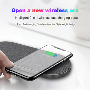 Image 5 - 20W Fast Wireless Charging Station For Samsung S20 S10 Dual 10W 2 in 1 Wireless Charger Pad for iPhone 11 XS XR X 8 Airpods Pro