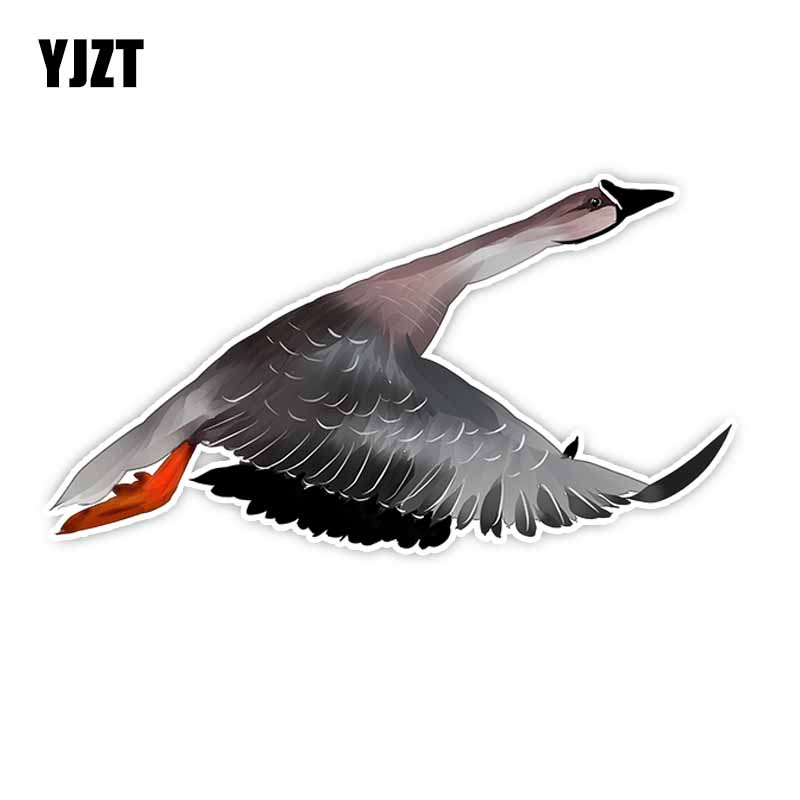 YJZT 8.5CM*16CM For Animal Flying Geese PVC Car Sticker Decal Accessories C29-1149