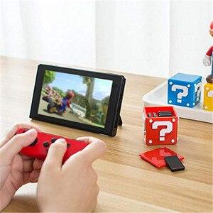 Image 3 - IVYUEEN Cho Nintend Switch NS Lite 12 Trong 1 Xách Tay Đựng Thẻ Game Bao Da Hộp Lưu Trữ Giá Đỡ Cầm 8 Trò Chơi thẻ Và 4 Thẻ TF