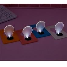 Портативный Ночной светильник в форме карты, ультратонкий светильник для карт, Креативный светодиодный энергосберегающий светильник, карм...
