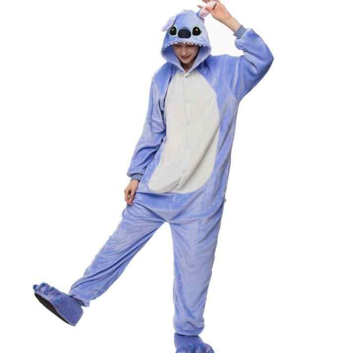 Hksng Volwassen Kigurumi Kat Rompers Pikachu Tijger Konijn Eeyore Pyjama Flanel Cartoon Halloween Party Jumpsuits Pyjama Pak