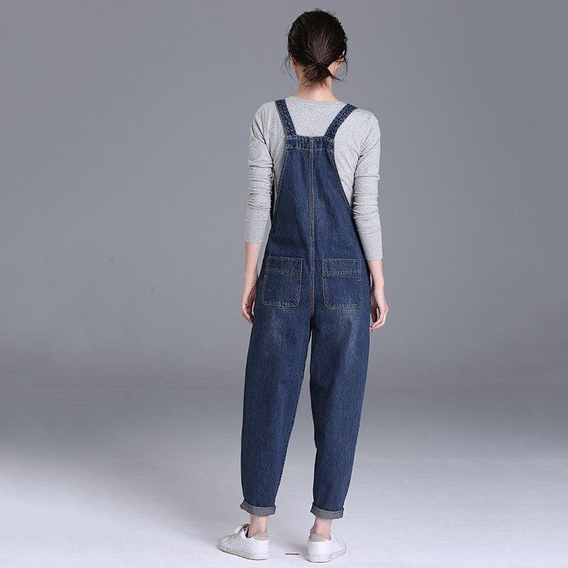 2019 wiosna nowy 200 funtów tłuszczu mm dżinsy spodnie damskie koreański wersja luźne duży rozmiar kobiet spodnie na szelkach 1