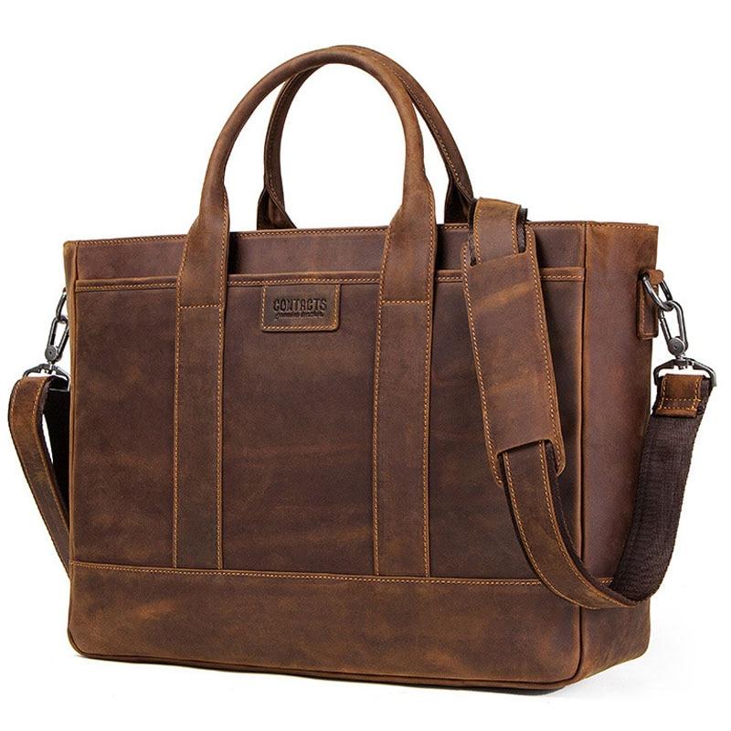 Genuine Leather Men Bag Messenger Bag Briefcase Men Laptop Bag Leather Office Shoulder Bags For Men Leather Handbag Male