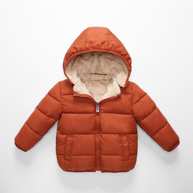 De feuilles Kids Toddler Boys Hooded Parka Jacket Fleece Lined Coat Winter Warm Padded Thick Outwear