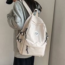 Japanese Harajuku women's backpack 2021 NEW Travel male and female middle school students Fashion simple nylon men's backpack