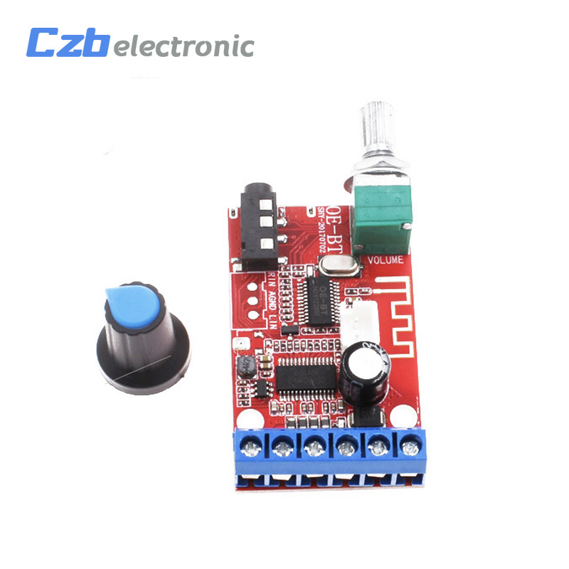 Bluetooth 4.2 Receiver DC 12V 30W*2 Stereo Audio Power Amplifier Board AUX