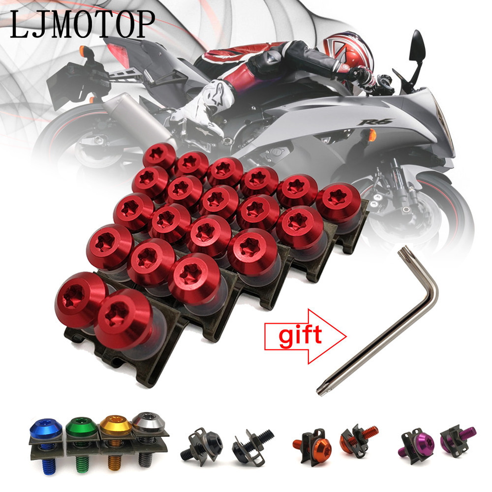 For <font><b>SUZUKI</b></font> HAYABUSA/GSXR1300 <font><b>SV1000</b></font>/S TL1000 R/S DL650/V-STROM General purpose Motorcycle <font><b>Fairing</b></font> Screws Clips Body Spring Bolts image