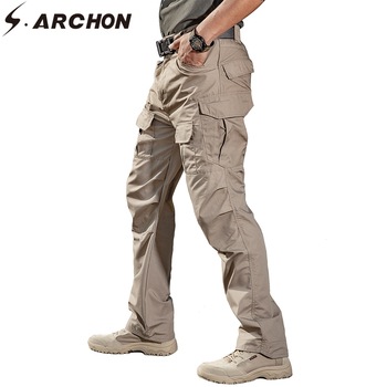 S.ARCHON IX2 Tactical Military Cargo Pants Men Cotton City Army SWAT Combat Trousers Male Casual Stretch Many Pockets Pants XXXL