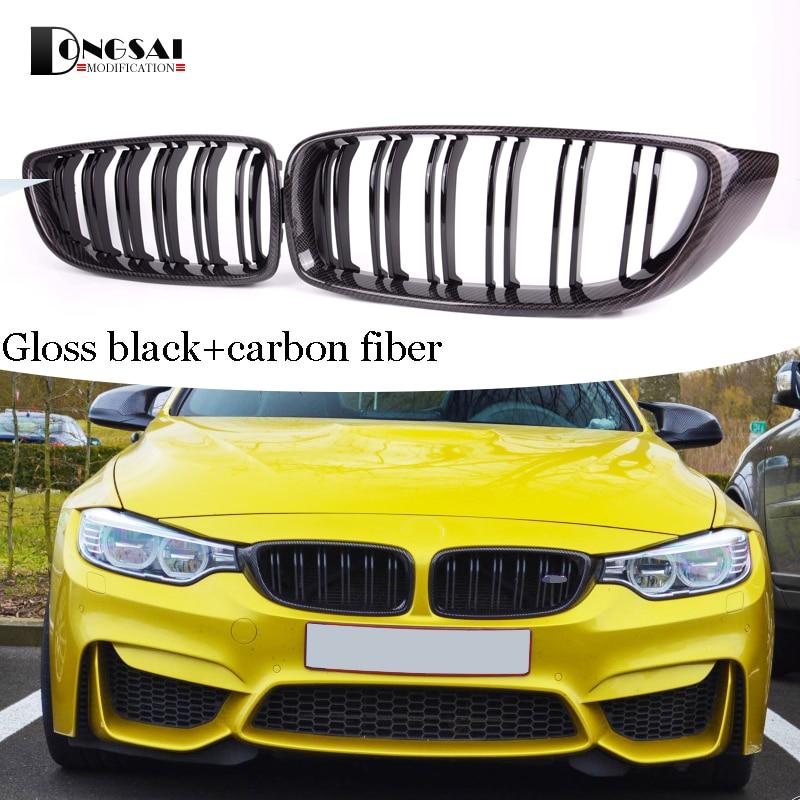 M4 avant en fibre de carbone ABS reins pare-chocs calandre pour BMW série 4 F32 F33 F36 F82 F83 M4 F80 M3 420d 430i 430d 440i 435i 428d