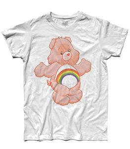 T-shirt allegrorso 1 small bears del heart carebears iridella mens ladies baby(China)