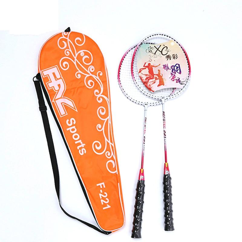 Badminton Double Racket Set Resistant To Beef Tendon Line Badminton Racket Ultra Light Child Adult Training Badminton Racket