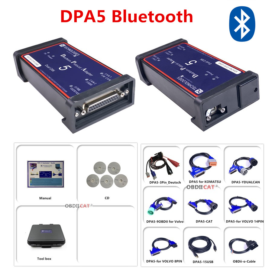 Dpa5 Dearborn Protocol Adapter 5 Heavy Duty Truck Scanner New Released CNH DPA