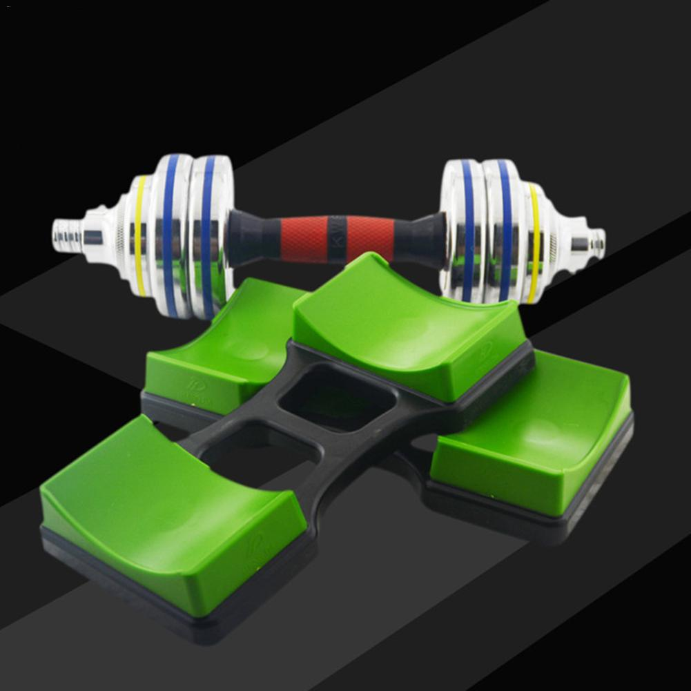 1Pair Weight Lifting Dumbbell Rack Stands Weightlifting Holder Dumbbell Floor Bracket Home Exercise Fitness Equipment Push-up 4