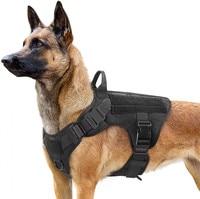 Set di imbracature e guinzagli per cani tattici fibbia in metallo gilet per cani di grossa taglia imbracatura per animali domestici durevole per pastore tedesco per addestramento di cani di piccola taglia