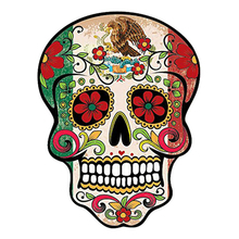 DAWASARU Personality Sunscreen Custom Waterproof MEXICAN SUGAR SKULL Car Sticker Reflective The Tail of The Car Decals 10CM*13CM 6zstickers sugar skulls reflective stickers decals waterproof sunscreen motogp x15