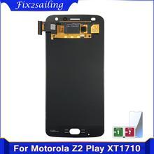 100% Motorola Moto Z2 용 디스플레이 테스트 XT1710 XT1710 01/07/08/09/10 LCD 디스플레이 터치 스크린 전체 어셈블리 교체