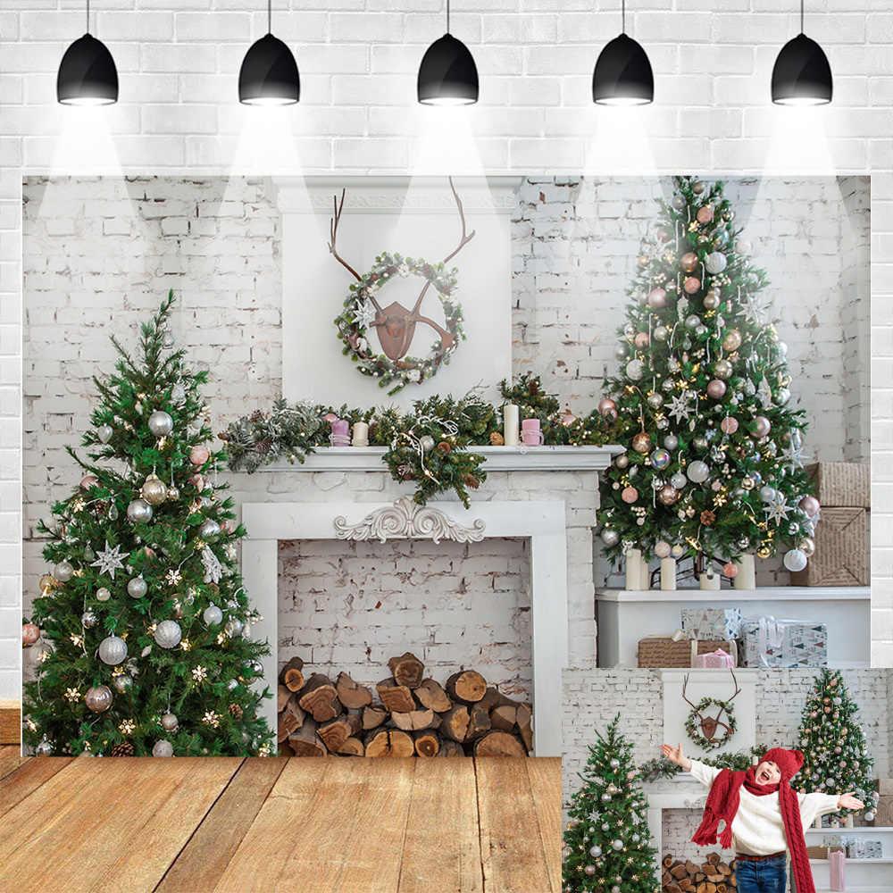 Kate 20x10ft Christmas Interior Photography Backdrop Family Portrait Background Party Decoration Photo Backdrop