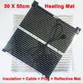 Alfombra de calefacción eléctrica de carbón infrarrojo lejano calentador manos pies pecera casa mascota AC220V película de calefacción con estera reflectante de enchufe de la UE