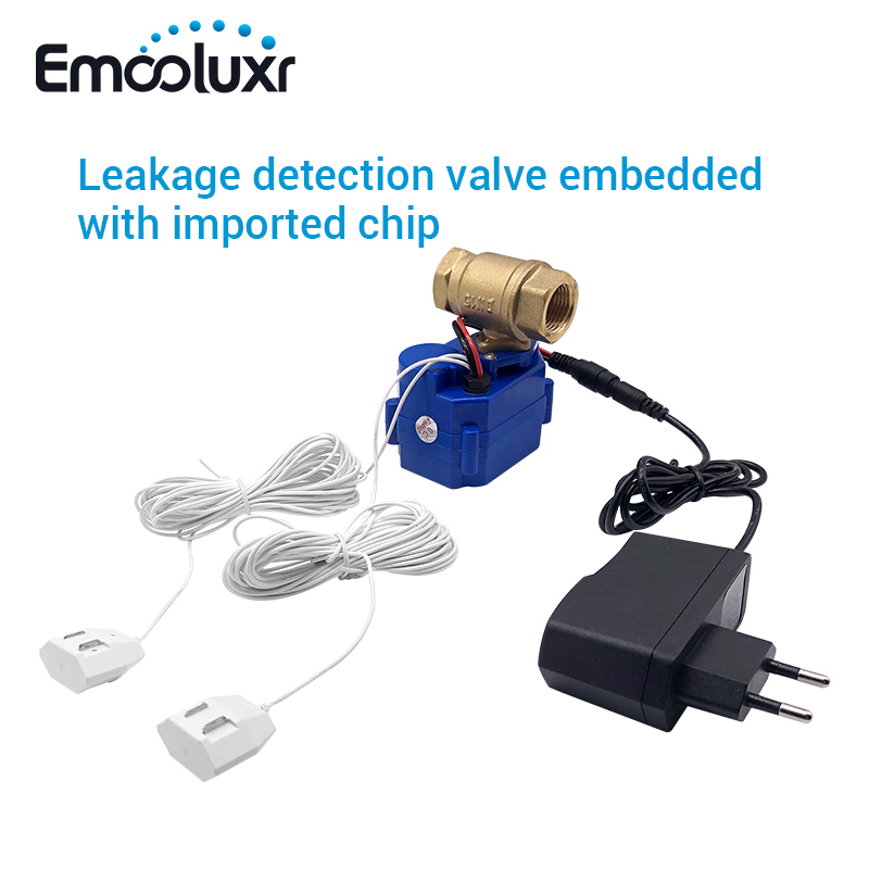 DN15 Waterlocks CWX Leakage Detection Valve Alarm System Embedded With 85dB Buzzer And 6meters Long Sensitive Water Sensor Wire