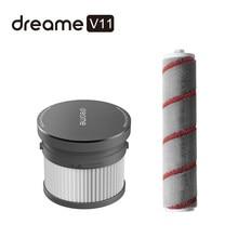 Pack de pièces de rechange principales pour aspirateur portable dreame V11,composants de remplacement comprenant un filtre HEPA et un rouleau-brosse principale, doux,