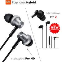 Xiaomi-auriculares híbridos Pro 2 / Hybrid Pro HD, dispositivo de audio Dual / Triple controlador, estructura equilibrada dinámica, micrófono intrauditivo, 2018 nuevo