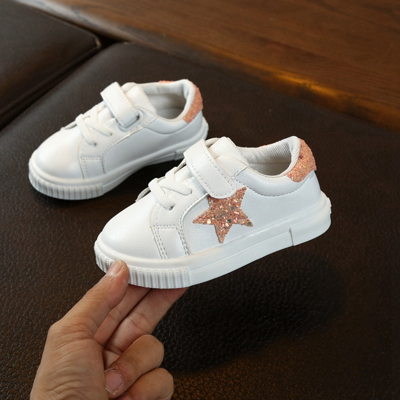 New Children Casual Shoes Baby Girls Shoes Boys Sneakers Autumn Breathable Anti-Slip Star Pattern Shoe Soft Soled Spring Winter