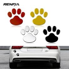Decal Car-Sticker Footprint Cool-Design Golden Black Animal 3D Cat Paw Dog Silver Bear