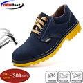 Мужская Рабочая обувь из натуральной кожи рабочие защитные ботинки мужская защитная обувь Рабочая обувь с стальным носком для мужчин Повсе...