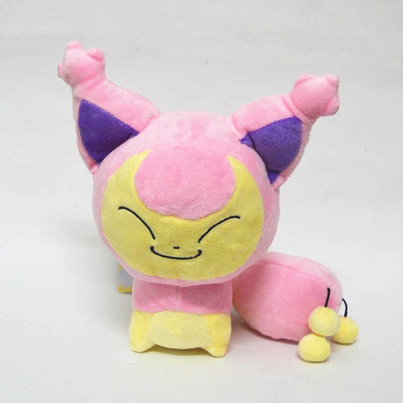 18 centímetros Anime Skitty Pelúcia Skitten Eneco Gx Ex Mega da Coleção Dos Desenhos Animados Boneca Animais De Pelúcia Recheado de Allstar Pikachued Eevee