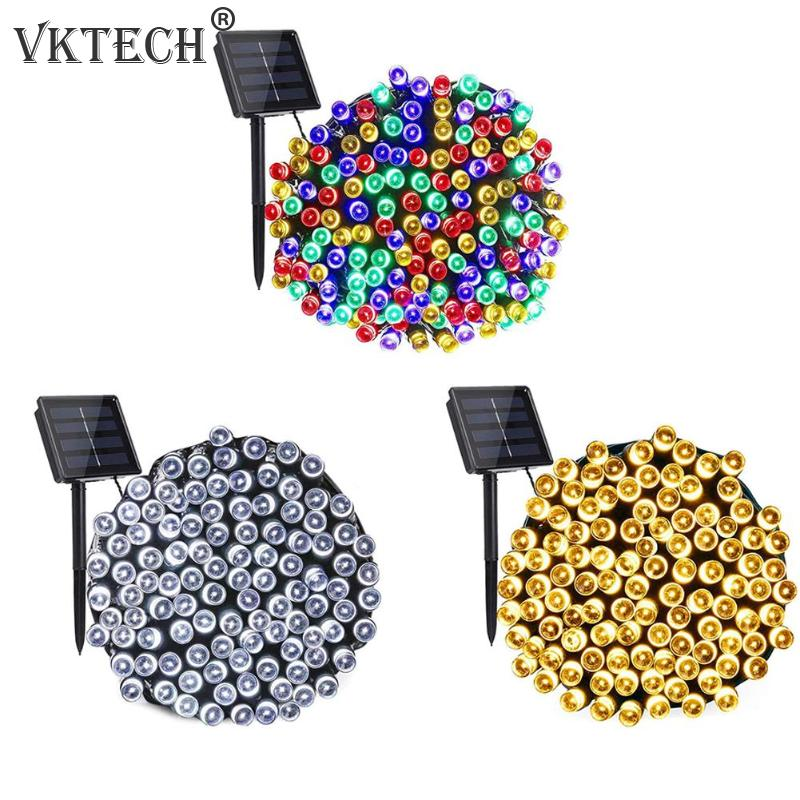 100/200/300LED 22m Solar Colorful Fairy String Light Outdoor Garden Decorative Lamp Waterproof Garland Christmas Decorations